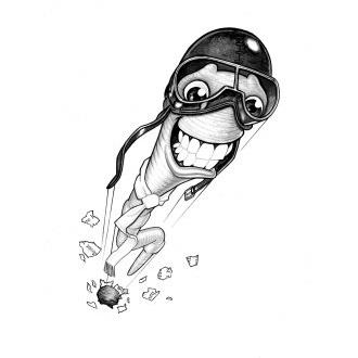 Книжный червь калибра .303 на рисунке Пола Кидби
