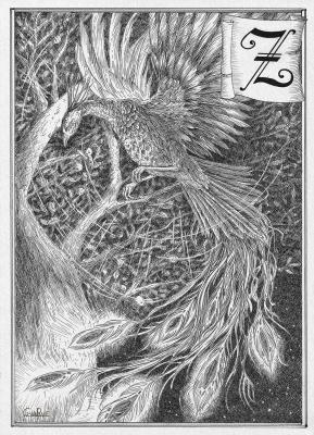 Жар-птица. Иллюстрация Юлии Широниной (CoalRye)