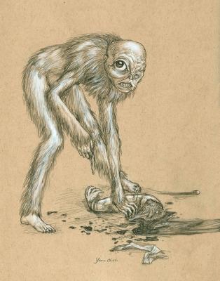 Яма-дзидзи. Иллюстрация Курта Комода (TickleMeCthulhu)