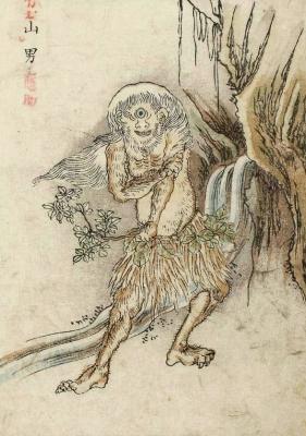 """Ямао (Yamao). Цветная копия Набэты Гёкуэя с рисунка Ториямы Сэкиэна """"Ямаваро"""""""