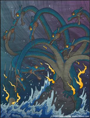 Ямата-но Ороти. Иллюстрация Мэтью Мэйера