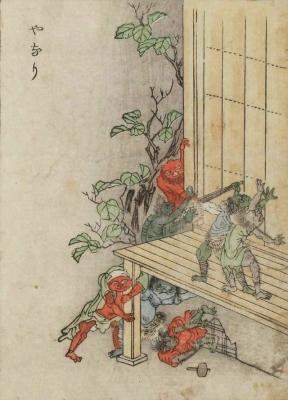 Янари. Цветная копия Набэты Гёкуэя с рисунка Ториямы Сэкиэна