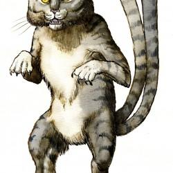 Бакенэко. Иллюстрация Ричарда Свенссона