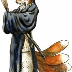Кицунэ. Иллюстрация Ричарда Свенссона