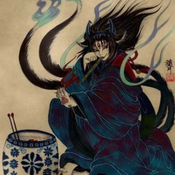Готоку-нэко как разновидность бакэ-нэко. Современный рисунок