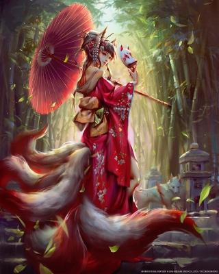 Тамамо-но Маэ. Иллюстрация Ю Чен Хонг