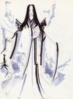 """Юки-онна. Рисунок Стефана Саборина (Stephane """"Samael1103"""" Sabourin)"""