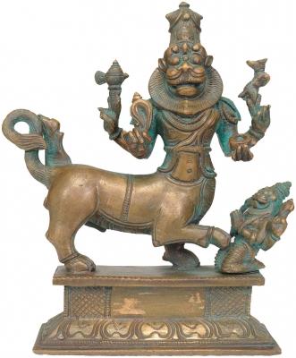 Шарабха как аватара Шивы. Бронзовая статуэтка из Свамималаи