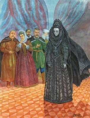 Призрак Черной Панны. Иллюстрация Валерия Славука