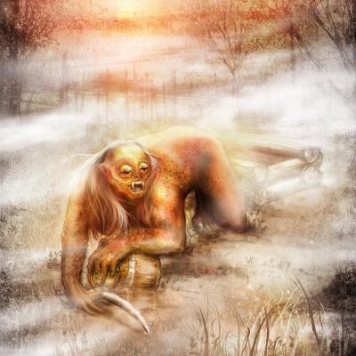 Железнячка (железная баба). Рисунок Евгения Кота