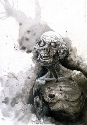 Зомби. Иллюстрация Мигеля Зуппо