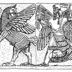 Бой бога Мардука с богиней тьмы и бездны Тиамат