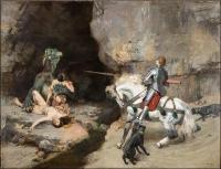 "Картина Густава Сурана ""Святой Георгий и дракон"""