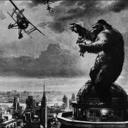 """Ранний концепт-арт к фильму """"Кинг-Конг"""" 1933 года"""
