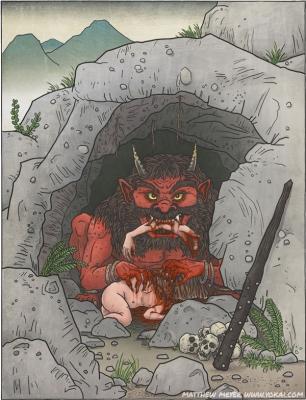 О́ни. Иллюстрация Мэтью Мэйера