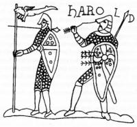 Симплициссимус на штандарте воина короля Гарольда