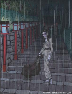 Амэ-онна. Иллюстрация Мэтью Мэйера