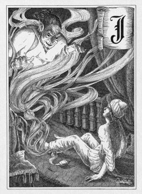 Джинн. Иллюстрация Юлии Широниной (CoalRye)