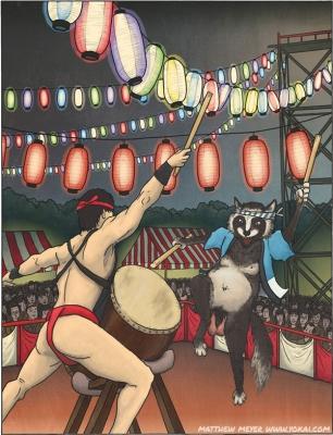 Тануки. Иллюстрация Мэтью Мэйера