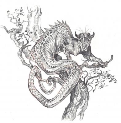 Татцельвурм. Рисунок Кейт Пфейлшефтер