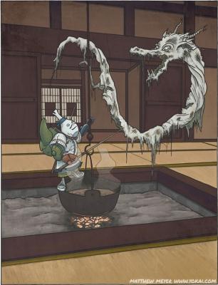 Сиро-унэри и Сэто-тайсё. Иллюстрация Мэтью Мэйера