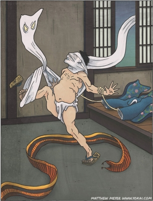 Иттан-момэн, Дзятай и Косодэ-но тэ на иллюстрации Мэтью Мэйера