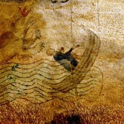 Изображение Лох-Несского чудовища на рукописи XII века