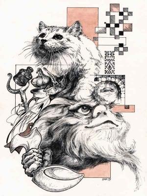 Домовой. Иллюстрация Михаила Чернодедова