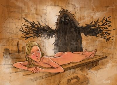 Банник. Иллюстрация Кати Заштопик