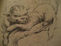 Чеширский кот. Иллюстрация Мервина Пика (Mervyn Peake), 1948