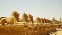 Аллея бараноголовых сфинксов перед храмом Карнака в Луксоре
