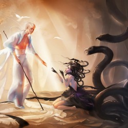 Medusa's Saviour. Иллюстрация Сакими Чан