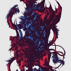 Интерпретация герба Исландии от иллюстратора Ивана Беликова