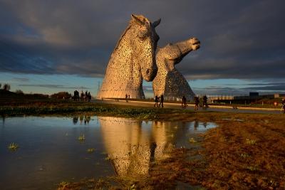 """Статуя """"Келпи"""". Фолкерк, Шотландия"""