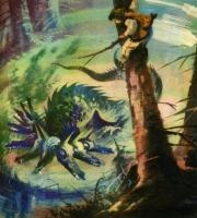 Порабощенная вода. Рисунок Марии Орловской-Габрысь к силезской сказке