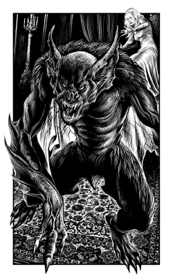 Вербэт. Иллюстрация Мартина МакКены для книги Джонатана Грина