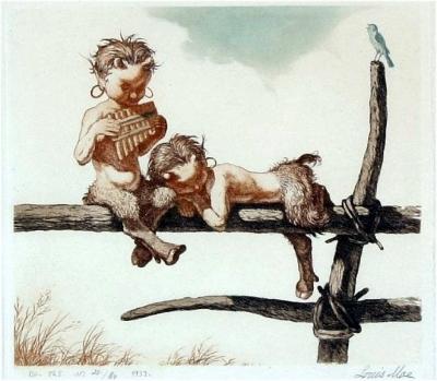 Сатирчики на иллюстрации Луиса Мо (Louis Moe)