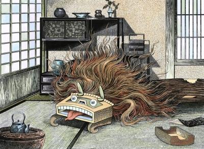 Кото-фурунуси. Рисунок Шигеру Мизуки
