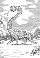 Серпопард. Иллюстрация Ричарда Свенссона