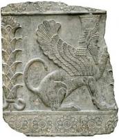 Сфинкс. Шумерский барельев из Персеполя