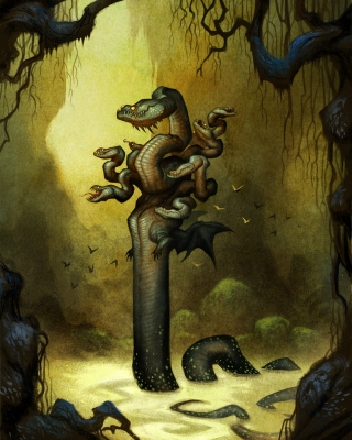 Лернейская гидра. Иллюстрация Юхана Эгеркранса