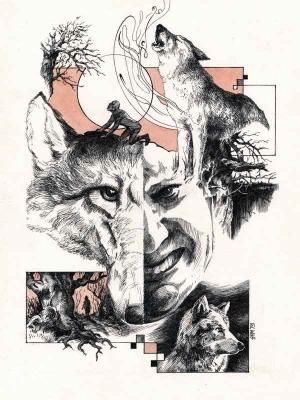 Волколак. Иллюстрация Михаила Чернодедова
