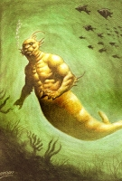 """Мийалобо. Иллюстрация из книги """"Guía Mitológica Ilustrada de Chile"""" (2007)"""
