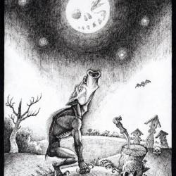 Влъкодлакъ. Иллюстрация Ивана Иванова (Brein-o-flex)