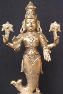 Статуэтка Матсьи — первой аватары Вишну в виде полурыбы-получеловека