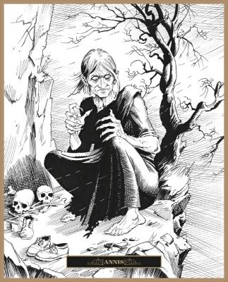 Черная Аннис. Иллюстрация Клаудио Санчеса Вивероса