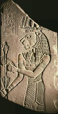 Львиноголовый бог Апедемак. Фрагмент погребального монумента