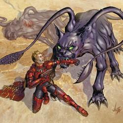 "Displacer Beast из D&D сеттинга ""Gamma World"""