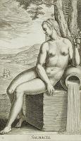 Салмакида — нимфа источника (креная). Гравюра Филиппа Галле