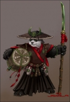 "Pandaren brewmaster. Концепт-арт к серии игр ""World of Warcraft"""